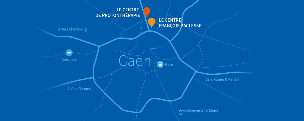 carte-caen-bleu-protontherapie-normandie